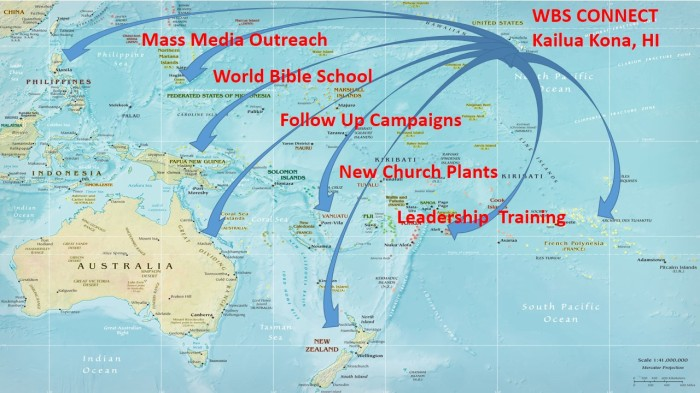 Oceania Outreach Map